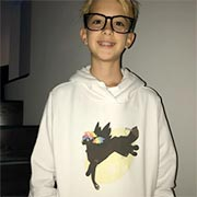 Awesome teen in a unicorn sweater they designed on Cafepress