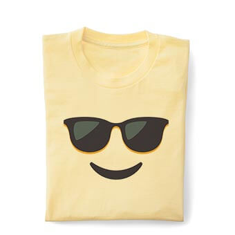 Kids t-shirts with emoji designs for back to school