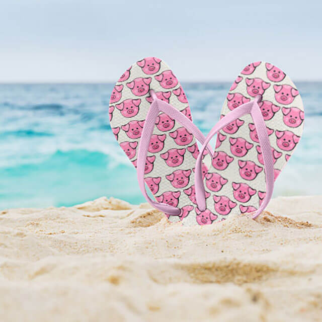 Flip out at our awesome custom flip flops.