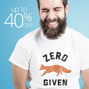 Funny T-Shirts up to 40% off.
