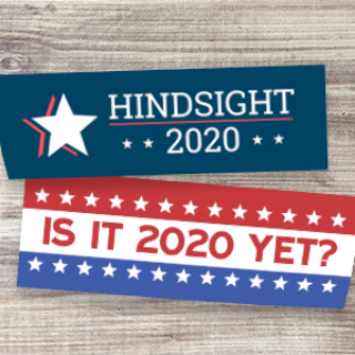 Political bumper stickers are a great way to share your views on the 2020 election. Support your candidate.
