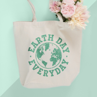 Show your love for Mother Earth with custom designed and printed Earth Day topic tote bags