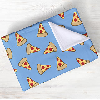 Show your love for all things food with these awesome blankets