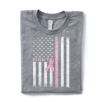 Show your support with Breast Cancer Awareness t-shirts