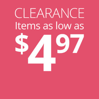 Clearance Items as Low as $4.97
