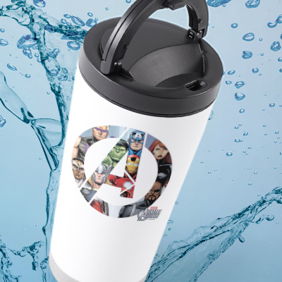 CafePress travel mugs with officially licensed Marvel designs.