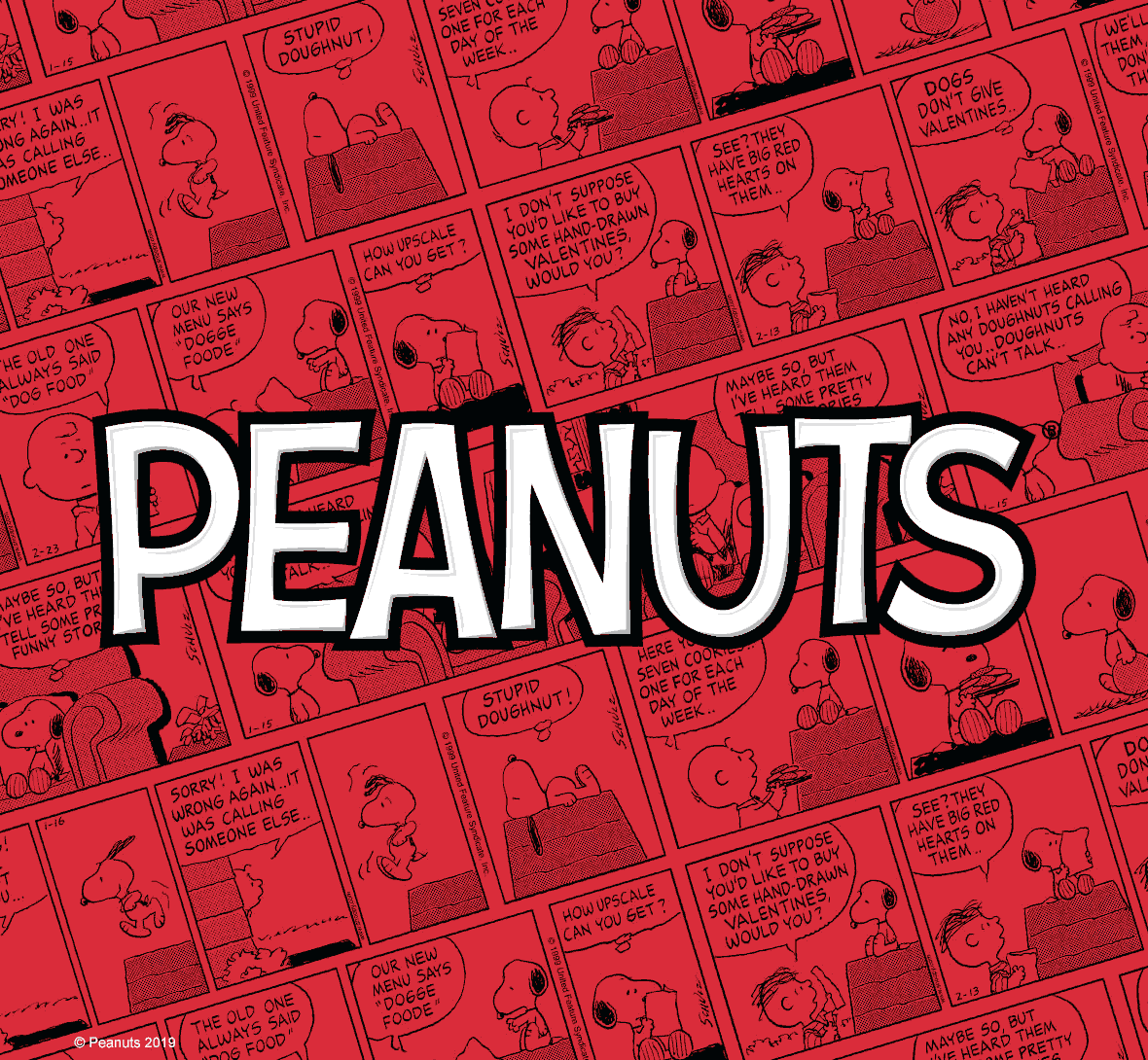 Officially licensed Peanuts comics and logo design