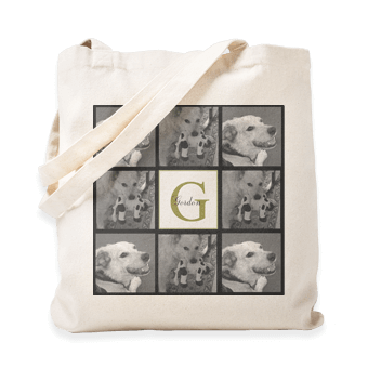 Great Valentines Day gift ideas - monogrammed personalized tote bags