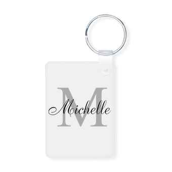 Great Valentines day gift ideas - monogrammed personalized keychains