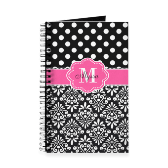 Great Valentines day gift ideas for the note takers - monogrammed notebooks