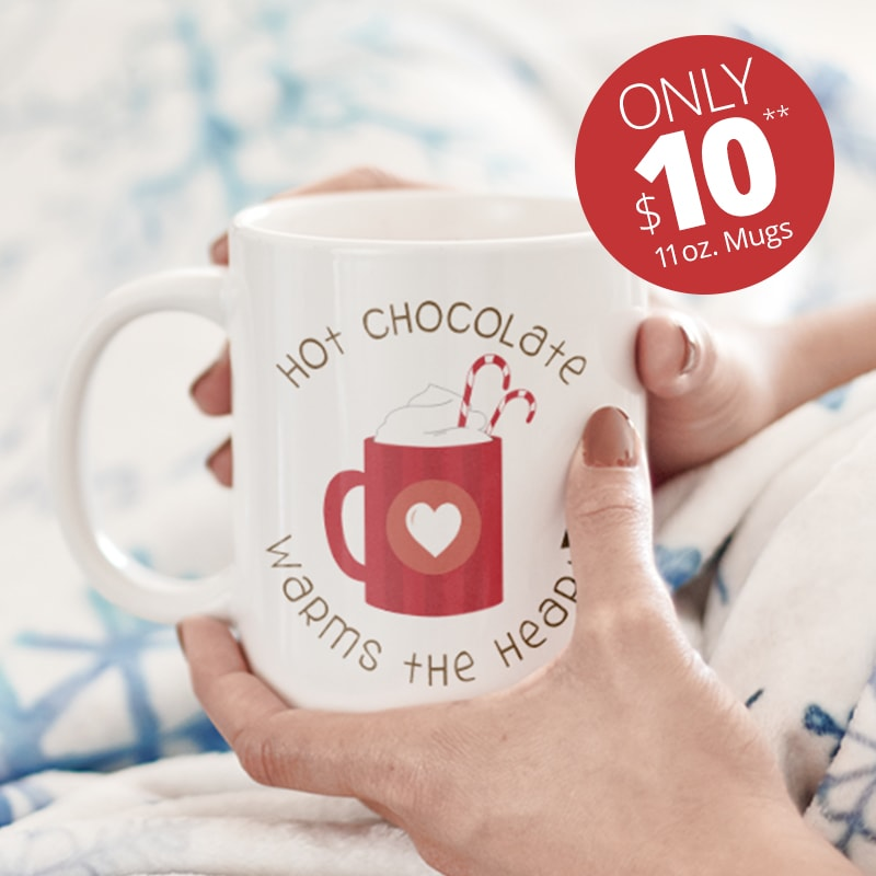 Only $10 for 11 oz. mugs holiday deal.