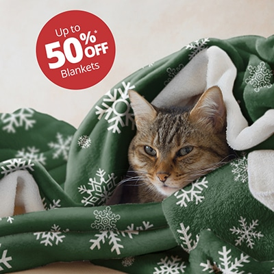 Up to 50% off blankets.