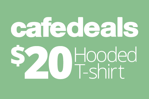 cafedeal: Hooded t-shirts only $20 for a limited time