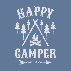 Laugh out loud with custom original designed merchandise for those who love camping, glamping, hiking, biking, all things outdoors.