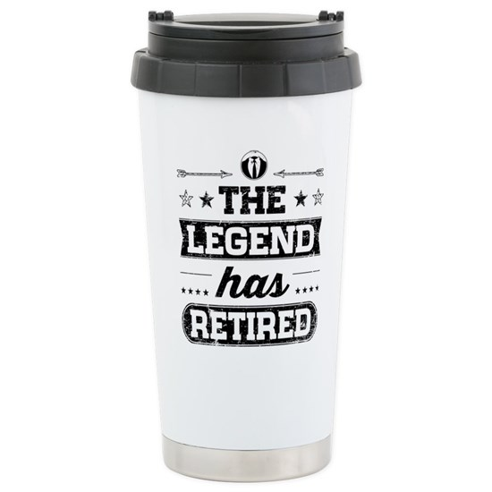 White travel mug with stylized text that reads Proud Dad with an Army symbol in the O