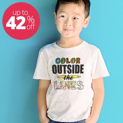 Asian American boy wearing white classic t-shirt with