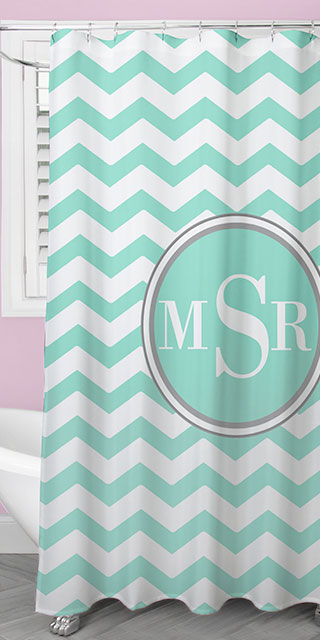 Personalized shower curtains to spruce up your bathroom.