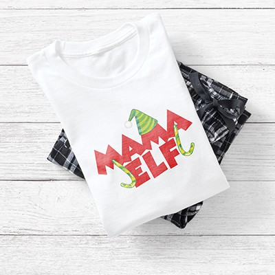 CafePress Pajama set with a Mama Elf design