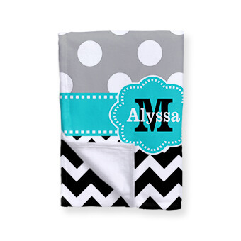 Great Christmas gift ideas - monogrammed personalized throw blankets