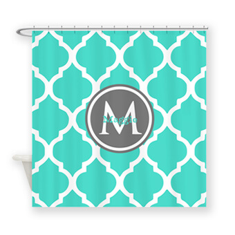 Show your support with Great Christmas gift ideas - monogrammed personalized shower curtains