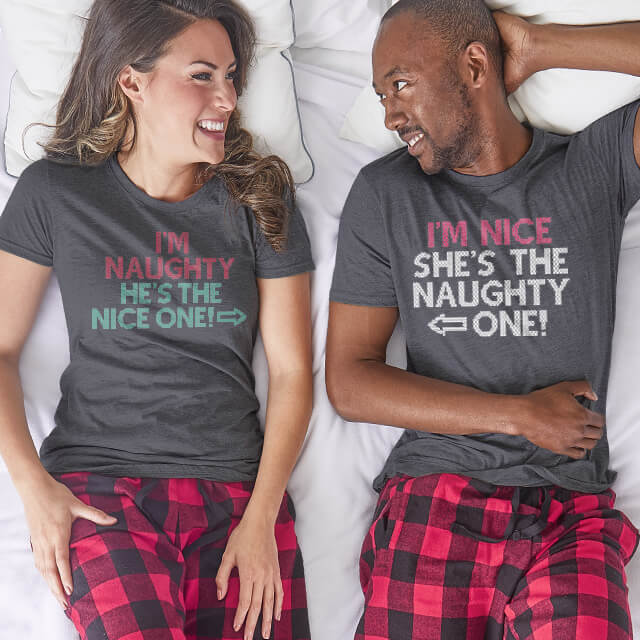 Family wearing personalized Christmas pajama set gifts for the holidays