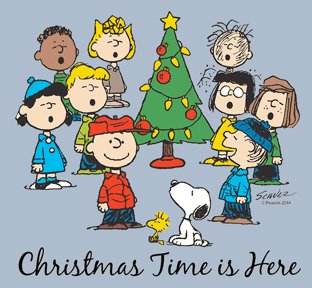 Peanuts Christmas licensed merchandise including t-shirts, apparel, drinkware, home decor, and more
