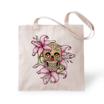 Halloween Day of the Dead Designs printed on t-shirts, home decor, drinkware, mugs, tote bags, and other merchandise