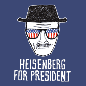 Funny election fictional candidates prints on t-shirts, apparel, mugs, drinkware, home goods, buttons, signs, stickers and more