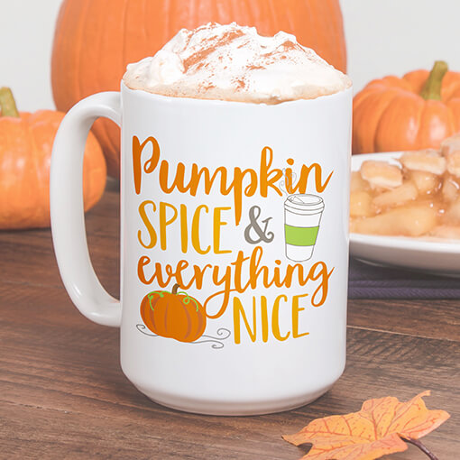 Funny Fall pumpkin spice stainless steel travel mugs and drinkware