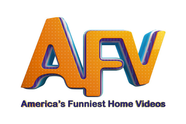 America's Funniest Home Videos TV Show Oval Stickers