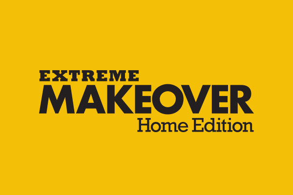 Extreme Makeover: Home Edition TV Show Burlap Throw Pillows
