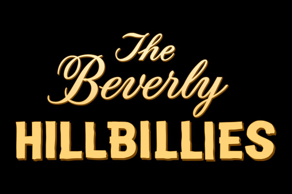 Beverly Hillbillies TV Show Silver Oval Necklaces