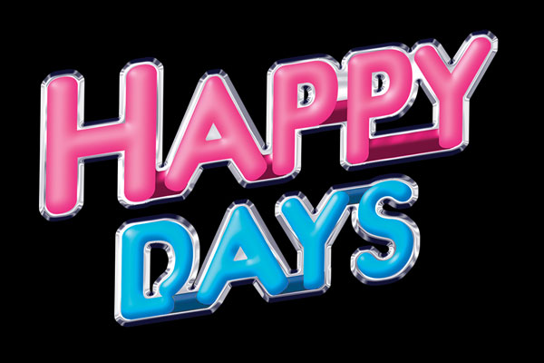 Happy Days TV Show Stickers
