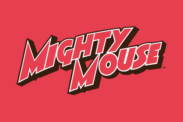 Mighty Mouse TV Show Men's Zip Up Hoodies