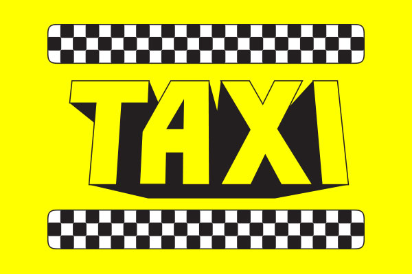 Taxi TV Show Rectangle Keychains