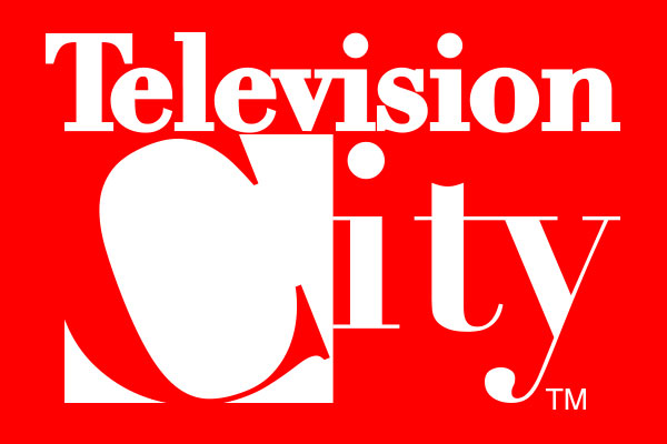 TV City TV Show Oval Stickers