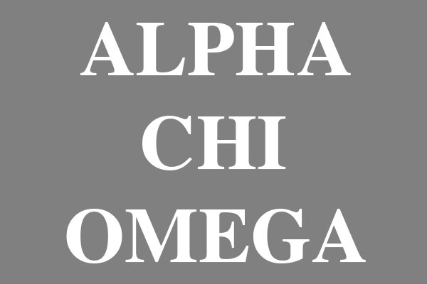 Alpha Chi Omega Ceramic Round Ornaments