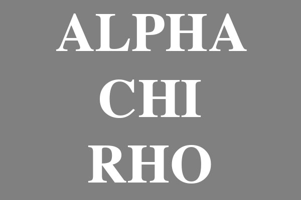 Alpha Chi Rho Fraternity Ceramic Oval Ornaments
