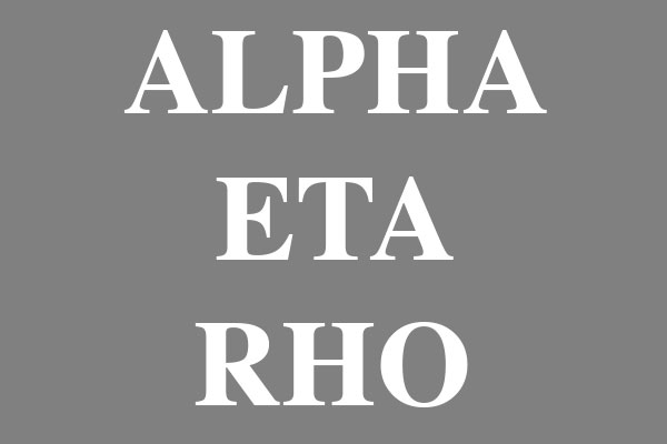 Alpha Eta Rho Fraternity Round Car Magnets