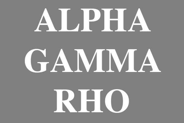 Alpha Gamma Rho Fraternity Large Buttons