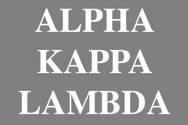 Alpha Kappa Lambda Fraternity Rectangle Stickers