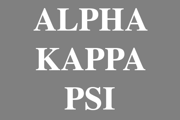 Alpha Kappa Psi Fraternity Earrings