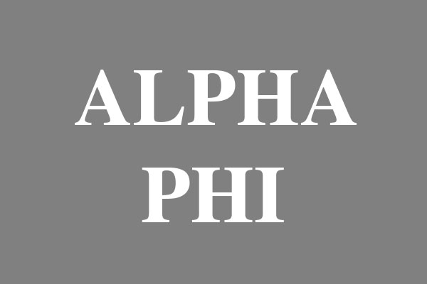 Alpha Phi Sorority Plus Size V-Neck T-Shirts