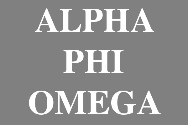 Alpha Phi Omega Fraternity Large Wall Clocks