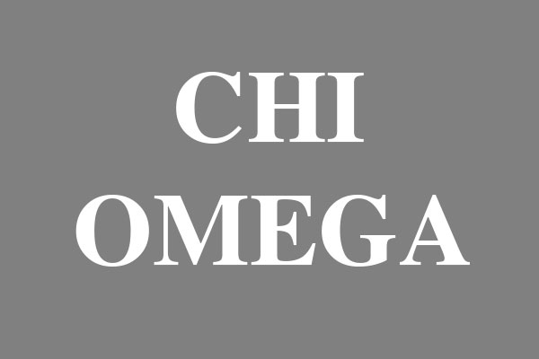 Chi Omega Sorority Stickers