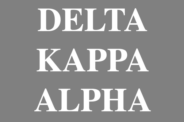 Delta Kappa Alpha Fraternity Men's Zip Up Hoodies