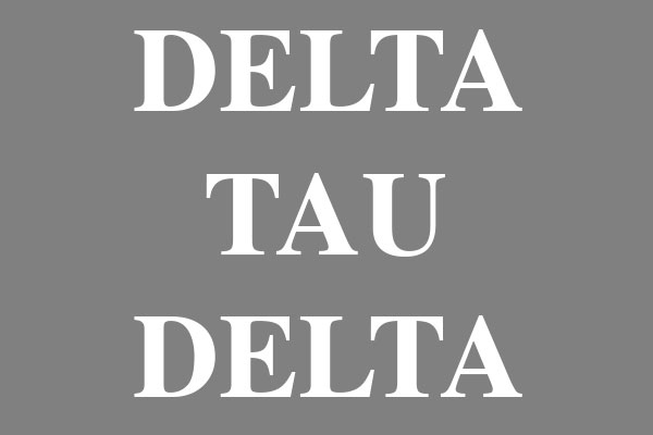 Delta Tau Delta Fraternity Ceramic Oval Ornaments