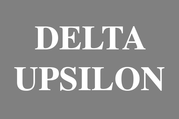 Delta Upsilon Fraternity Men's Fitted T-Shirts