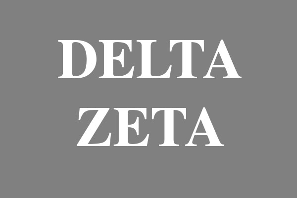 Delta Zeta Sorority Dog Tags