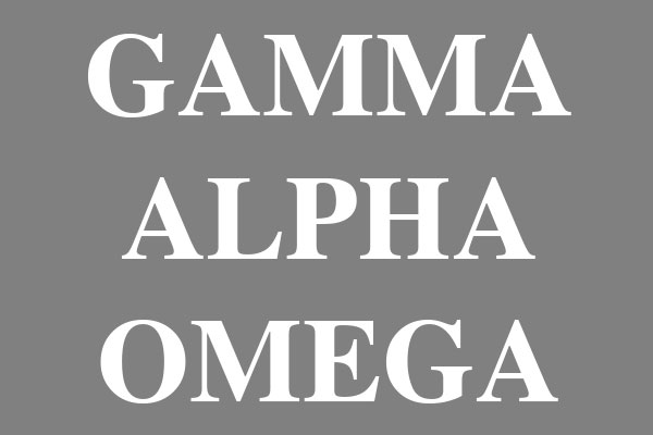 Gamma Alpha Omega Sorority Wall Art